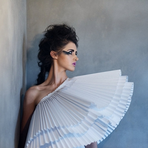 One Shoulder Paper Fan Dress