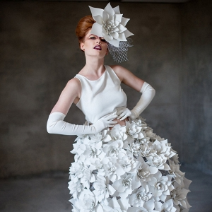 Paper Flower Wedding Dress