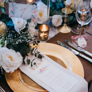 Pastel and Gold Place Setting