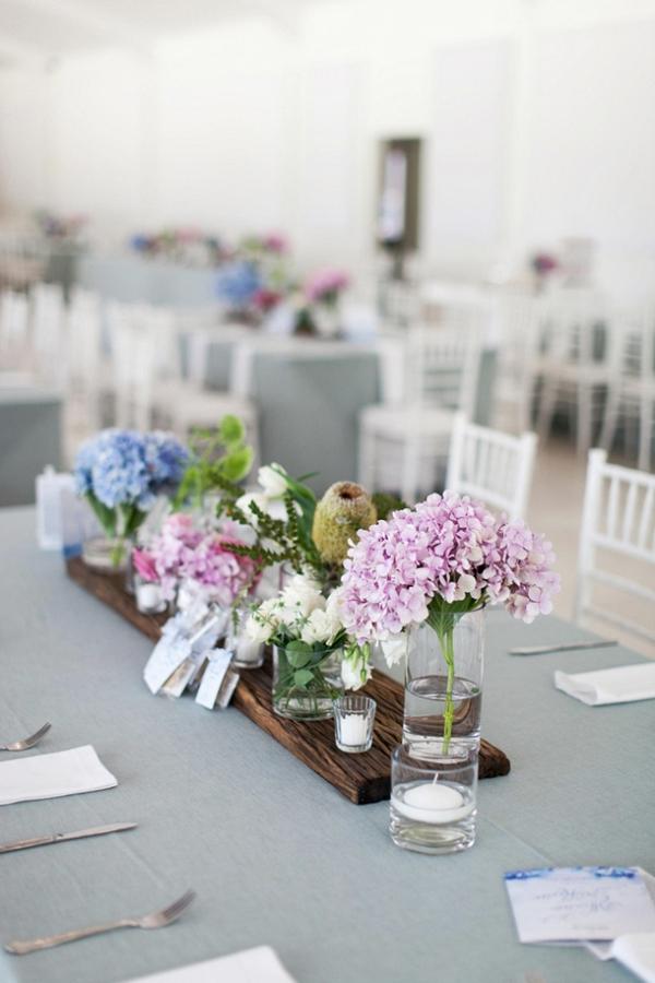 Tablescape with Pastel Centerpiece