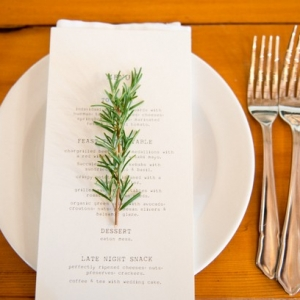 Herb place setting