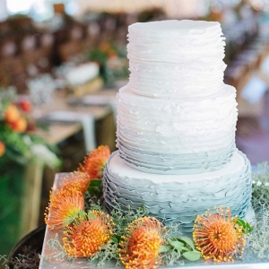 Grey Ombre Ruffle Cake