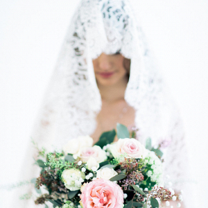 Bride in Mantilla Veil