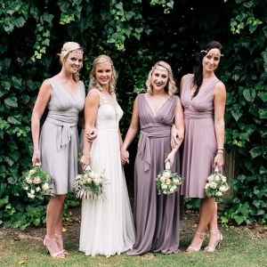 Mixed Pastel Purple Bridesmaid Dresses