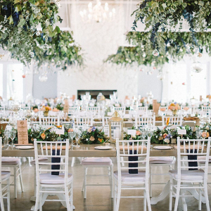 Reception Decor with Hanging Decor