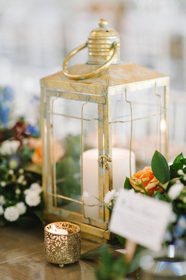 Gold Lantern Centerpiece
