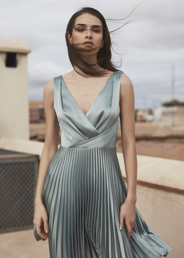 Reiss Alicia Knife-pleat Midi Dress for Bridesmaid Dress