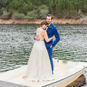Bride and Groom at Lake