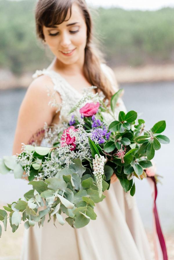 Loose Pink & Purple Bouquet