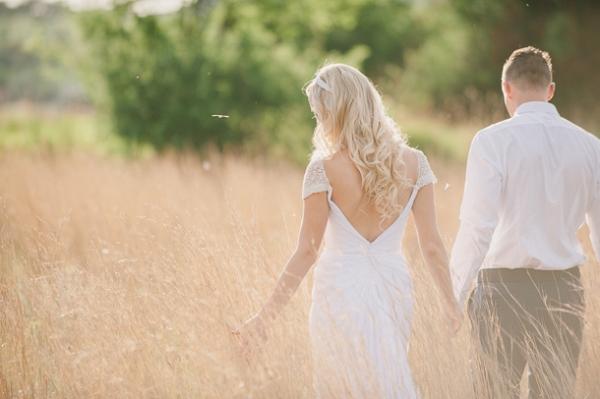 Bride & Groom in Field