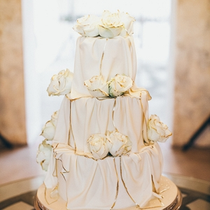 Gilt Edged Wedding Cake