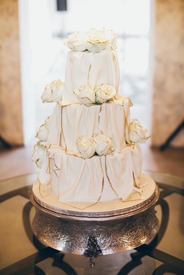 Gilt Edged Wedding Cake