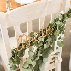 Eucalyptus chair garland