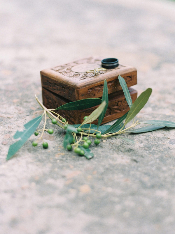 Carved Wooden Box Ring Holder