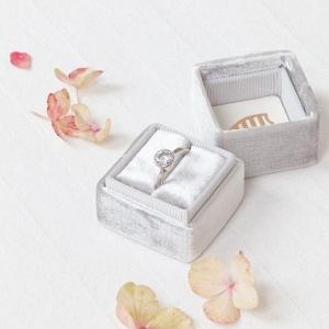 Engagement Ring in Velvet Box