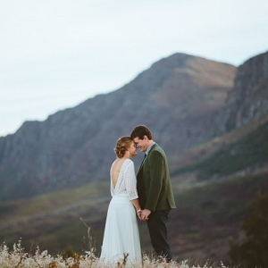 Bride & Groom in Mountains