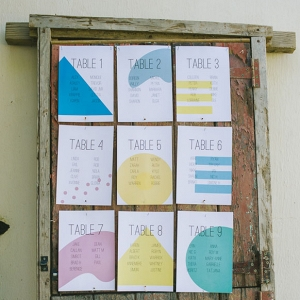 Pastel Geometric Table Plan