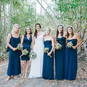Navy Boho Bridesmaid Dresses