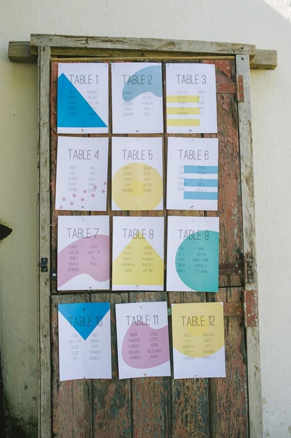 Pastel Geometric Table Plan