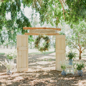 Vintage Door Ceremony Arch