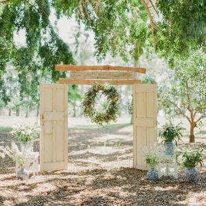 Vintage Door Ceremony Arch