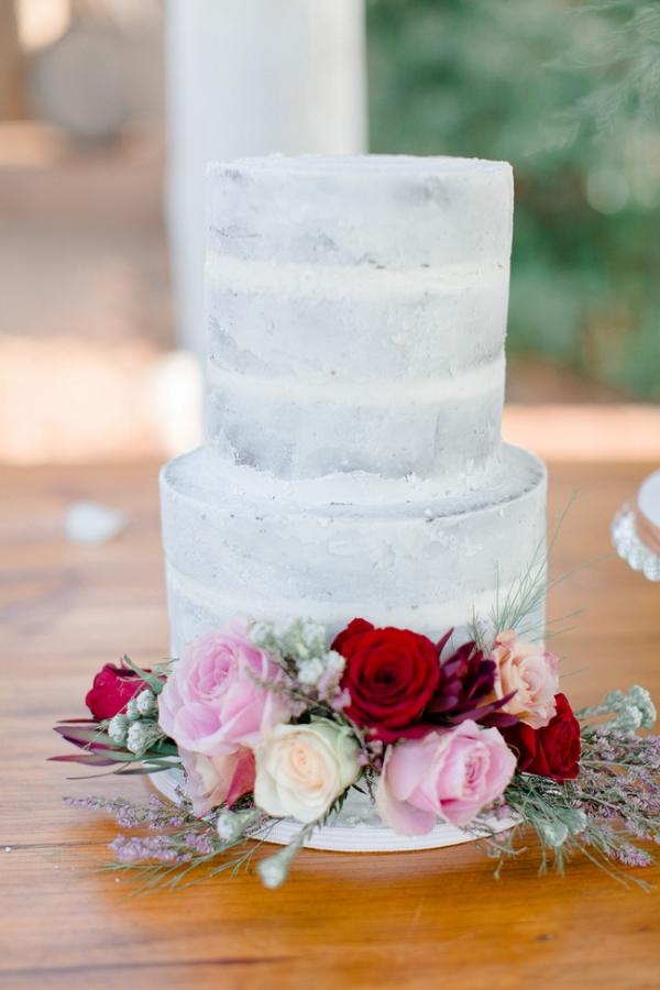 Semi-naked Cake with Flower Decoration