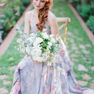 White rose & jasmine bouquet