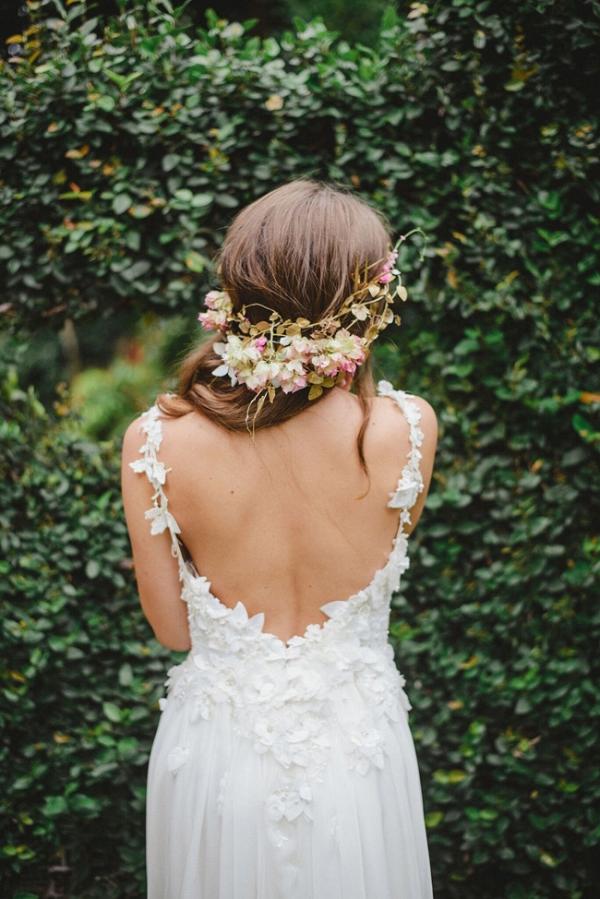 3D Floral Applique Wedding Dress