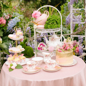 Vintage Tea Table Display