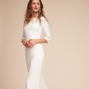 Elegant Bateau Neck Wedding Dress