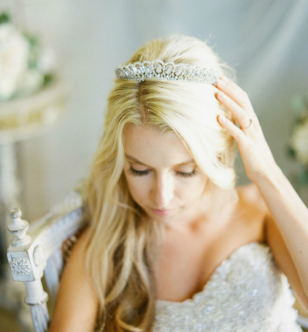 Greta Baguette Wedding Tiara