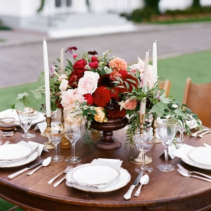 Jewel Tone Table Decor