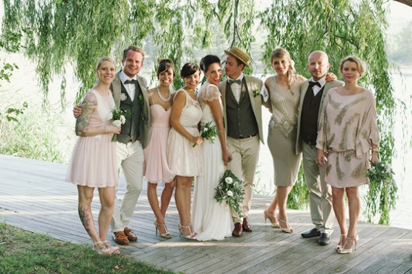 1920s inspired wedding party