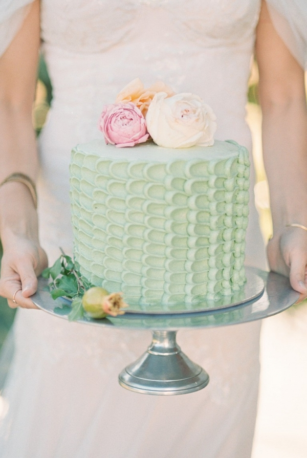 Mint Buttercream Ruffle Cake