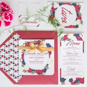 Floral Print Invitation Suite
