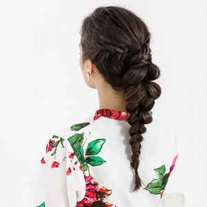 Dutch Braid Reception Hairstyle