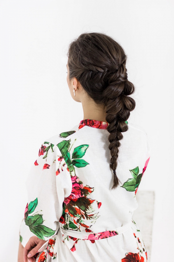 Dutch Braid Reception Hairstyle