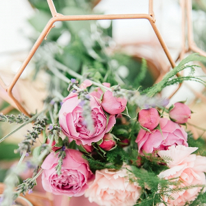 Copper Geometric Centerpiece