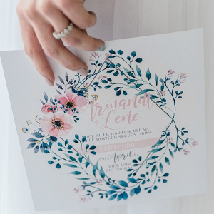 Watercolor Pastel Wedding Invitation