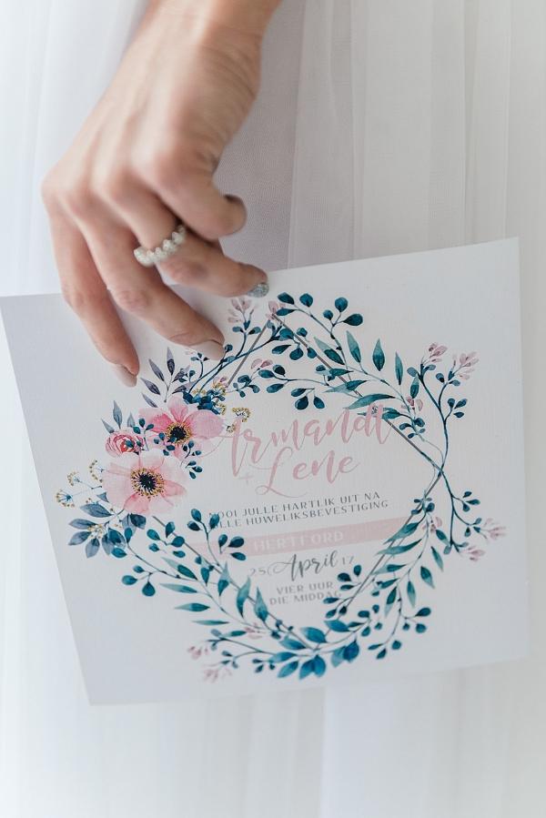Watercolor Pastel Wedding Invitation
