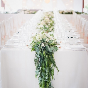 Floral & greenery table runner