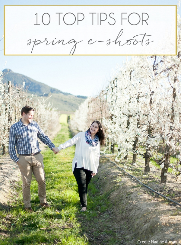 Spring blossom engagement