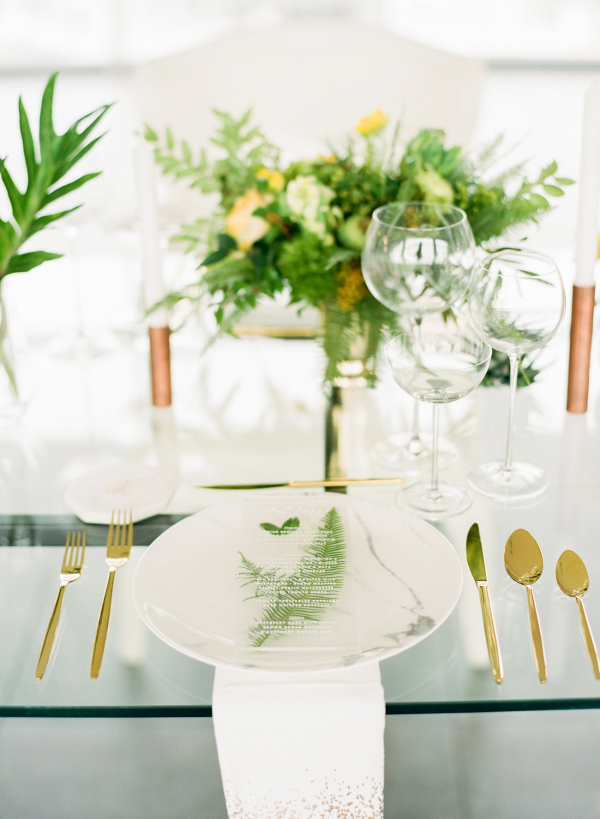Tropical Industrial Table Decor