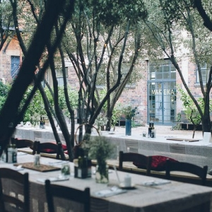Urban garden wedding venue