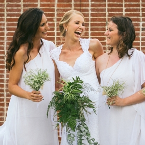White Grecian Bridesmaid Dresses