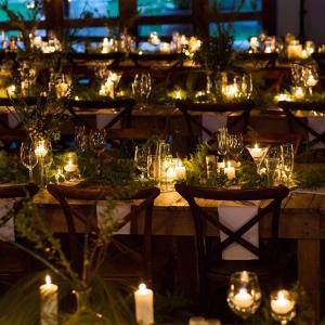 Candlelit Wedding Tables