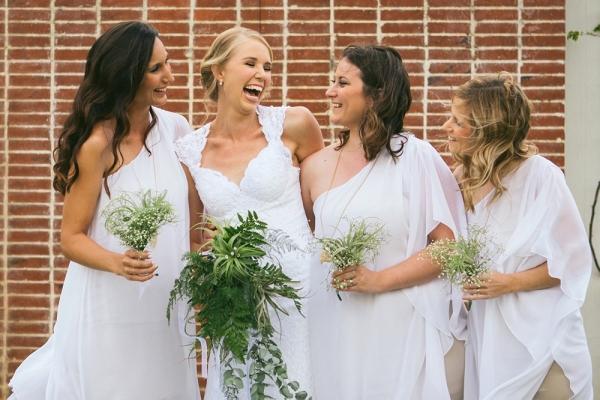 White Grecian Bridesmaid Dresses