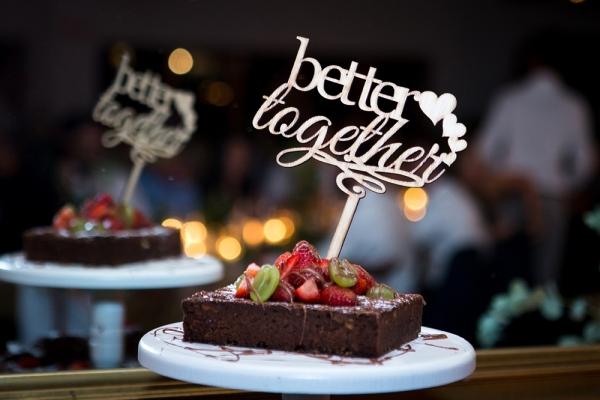 Brownie Wedding Cake