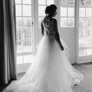 Illusion Lace Back Wedding Dress
