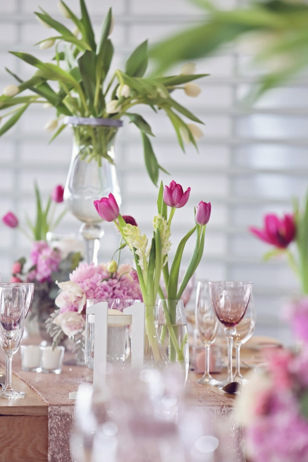 Wedding decor in shades of pink
